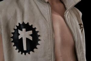 LED jacket David front detail