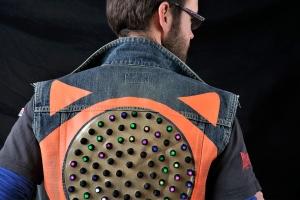 LED jacket Seba back
