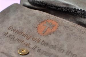 LED leather bag platoon kunsthalle front laser engrave