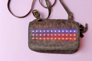 LED leather bag platoon kunsthalle front colours