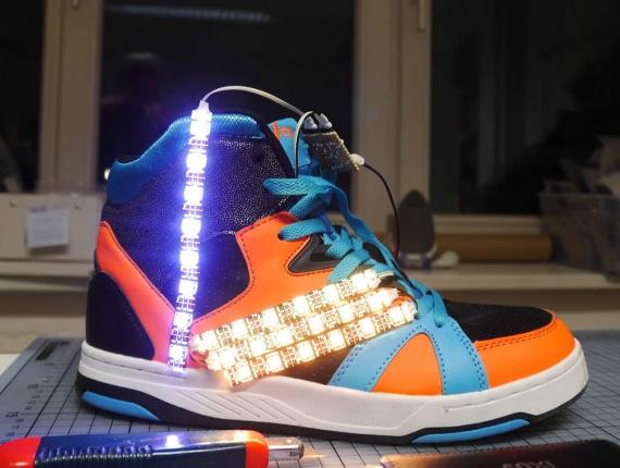 led shoe in progress