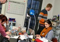 LED Jacket workshop Fab Lab Berlin DIY
