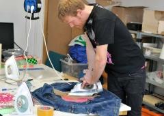 LED Jacket workshop Fab Lab Berlin ironing